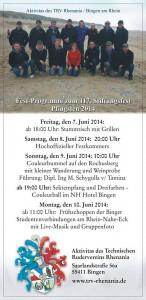 Programm Stiftungsfest 2014