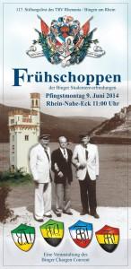 Frühschoppen der binger Studentenverbindungen - Pfingstmontag 9. Juni 2014 Rhein-Nahe-Eck 11:00 Uhr